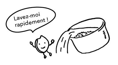 Laver le riz